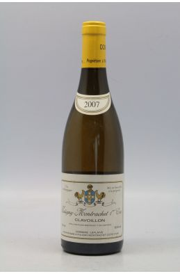 Domaine Leflaive Puligny Montrachet 1er cru Clavoillons 2007