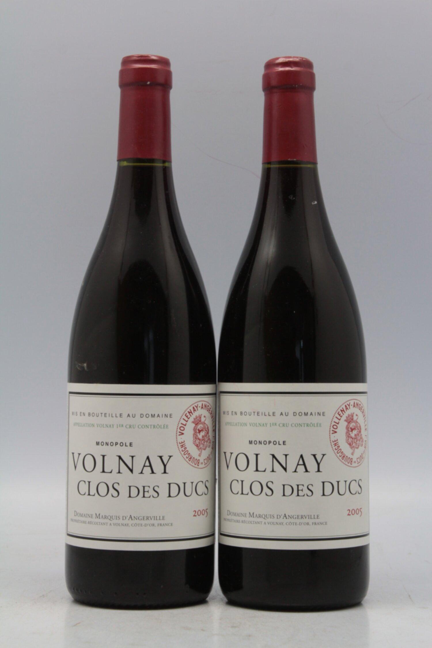 Marquis D Angerville Volnay 1er Cru Clos Des Ducs 2005 Vins Millesimes