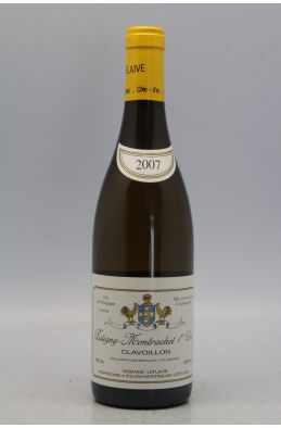 Domaine Leflaive Puligny Montrachet 1er cru Clavoillons 2007 OWC