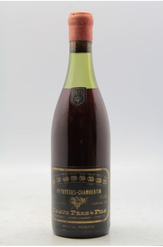 Camus Mazoyères Chambertin Spécial Réserve 1971 - PROMO -10% !