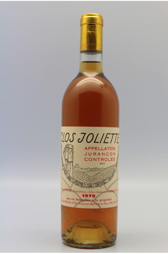 Clos Joliette Jurançon 1970 Moelleux