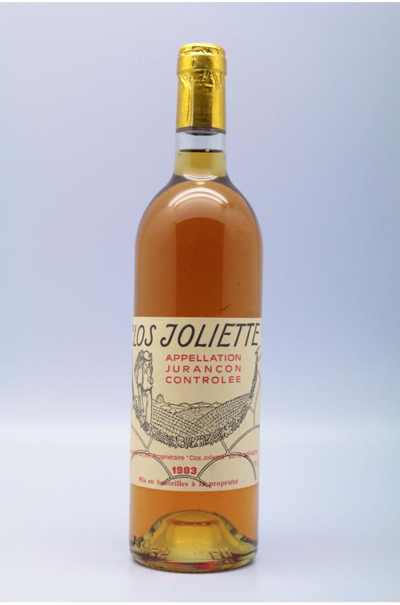 Clos Joliette Jurançon 1983 Moelleux
