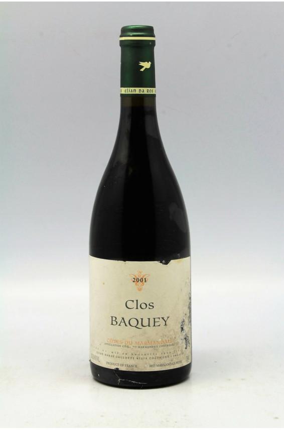 Elian Da Ros Côtes du Marmandais Clos Baquey 2001 - PROMO -10%