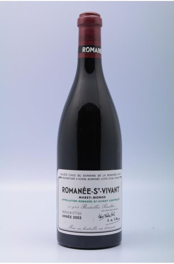 Romanée Conti Romanée Saint Vivant 2003