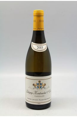 Domaine Leflaive Puligny Montrachet 1er cru Clavoillons 2015