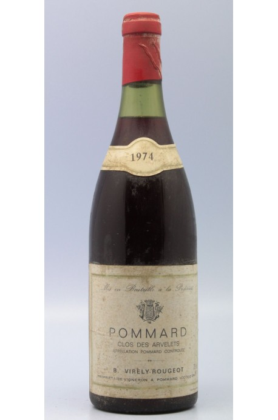 Virely Rougeot Pommard 1er cru Clos des Arvelets 1974