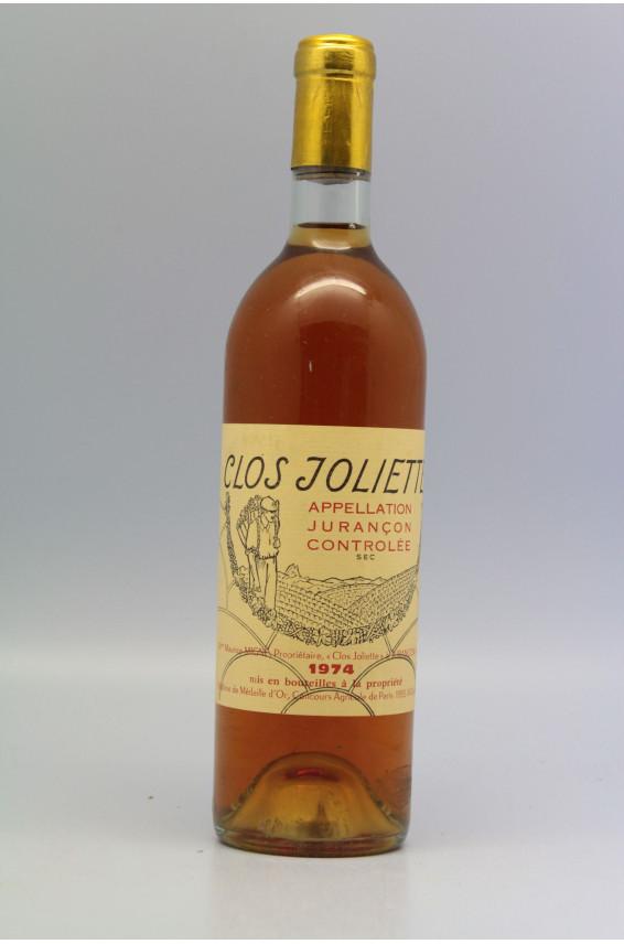 Clos Joliette Jurançon 1974 sec