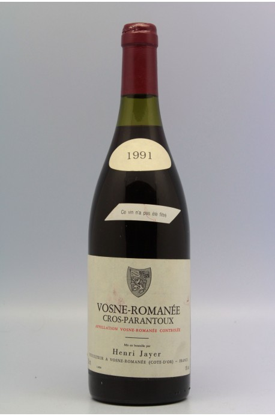 Henry Jayer Vosne Romanée 1er cru Cros Parantoux 1991