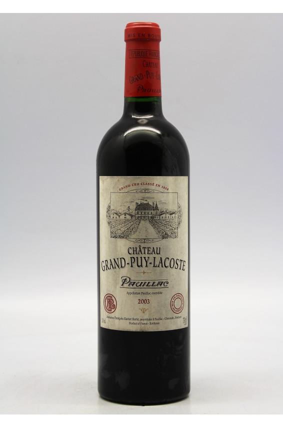 Grand Puy Lacoste 2003 - PROMO -5% !