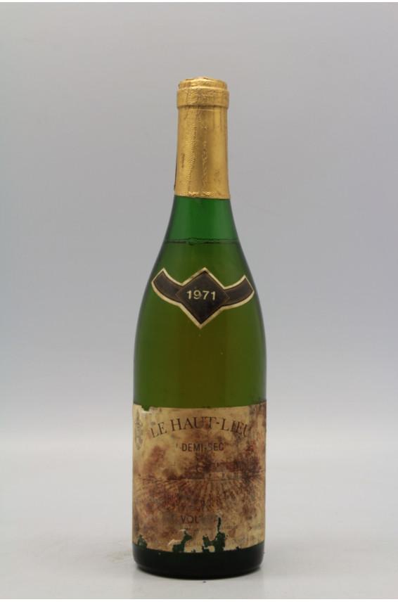 Huet Vouvray Le Haut Lieu Demi Sec 1971 - PROMO -10% !