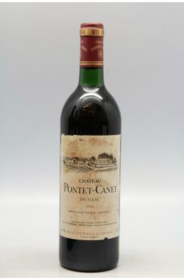 Pontet Canet 1986 -10% DISCOUNT !