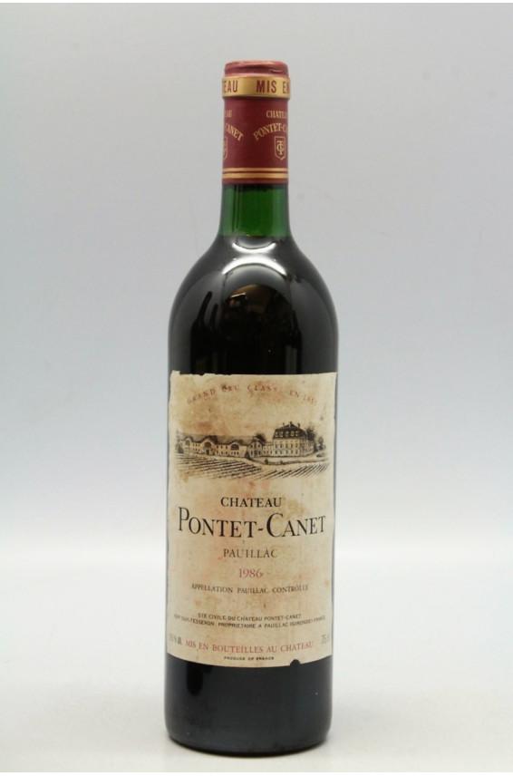Pontet Canet 1986 - PROMO -10% !
