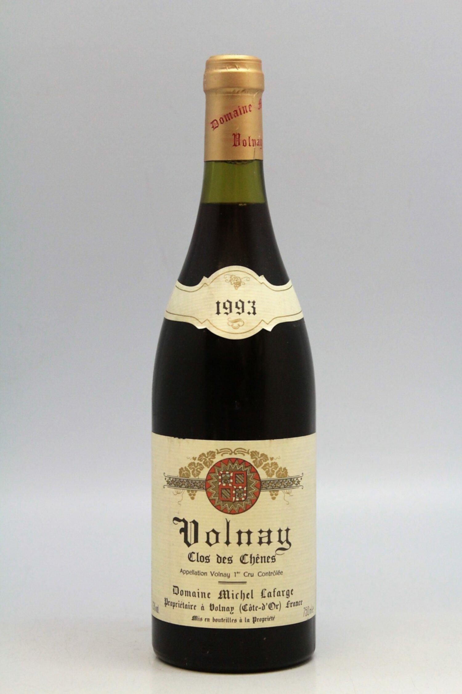 Michel Lafarge Volnay 1er Cru Clos Des Chênes 1993 Vins Millesimes