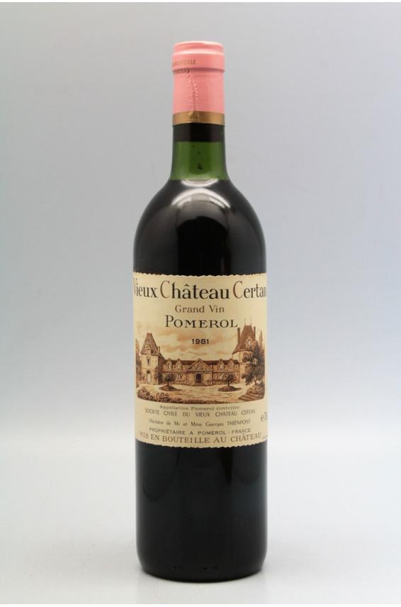 Vieux Château Certan 1981