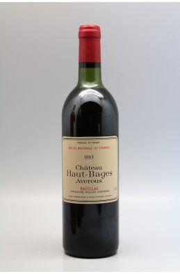 Haut Bages Averous 1983 -10% DISCOUNT !