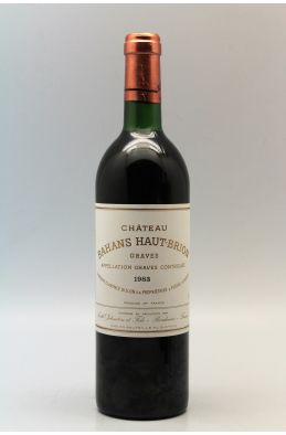 Bahans Haut Brion 1983
