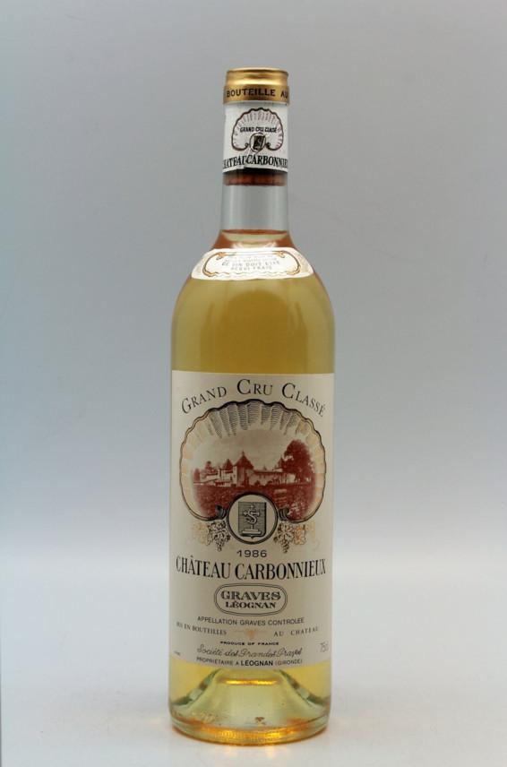 Carbonnieux 1986 blanc
