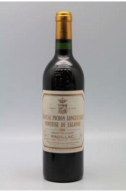 Pichon Comtesse Longueville de Lalande 1986