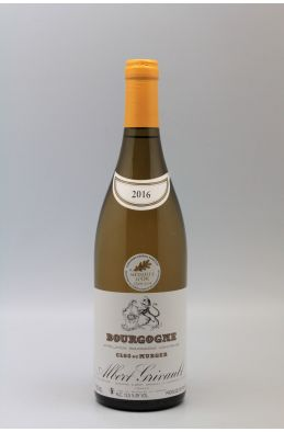 Albert Grivault Bourgogne Clos du Murger 2016