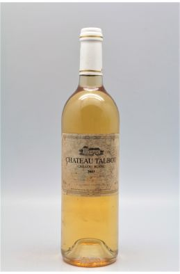 Talbot Caillou Blanc 2003 -5% DISCOUNT !