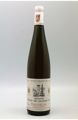 Kientzler Alsace Grand cru Riesling Geisber Vendanges Tardives 1989