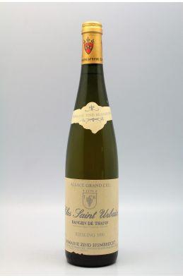 Zind Humbrecht Alsace Grand Cru Riesling Rangen de Thann Clos Saint Urbain 1990