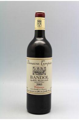 Tempier Bandol Cabassaou 2003