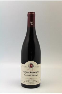 Bruno Clavelier Vosne Romanée Hautes Maizières Vieilles Vignes 2017