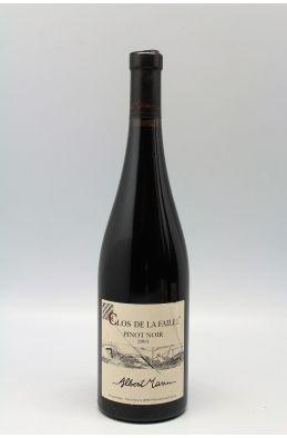 Albert Mann Alsace Pinot Noir La Faille 2004