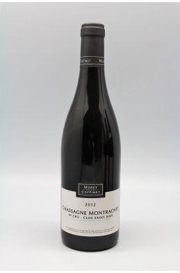 Morey Coffinet Chassagne Montrachet 1er cru Clos Saint Jean 2012 rouge
