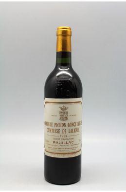 Pichon Longueville Comtesse de Lalande 1985