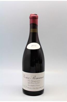 Domaine Leroy Vosne Romanée Les Genaivrières 2003