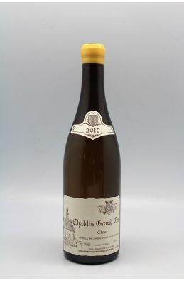 Raveneau Chablis Grand cru Clos 2012