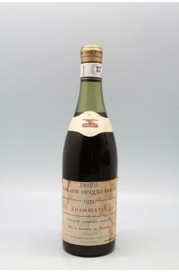Jacques Prieur Chambertin 1971 -10% DISCOUNT !