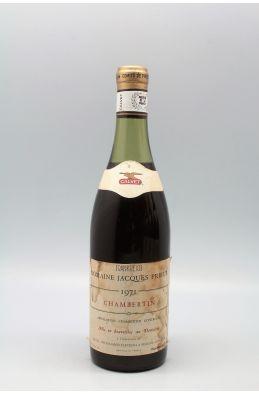 Jacques Prieur Chambertin 1971 - PROMO -10% !