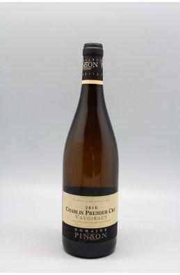 Pinson Chablis 1er cru Vaugiraut 2010