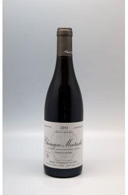 Marc Colin Chassagne Montrachet Vieilles Vignes 2011 rouge