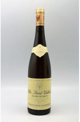 Zind Humbrecht Alsace Grand Cru Pinot Gris Rangen de Thann Clos Saint Urbain 2007
