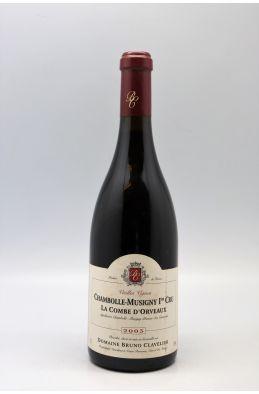 Bruno Clavelier Chambolle Musigny 1er cru La Combe d'Orveaux 2003