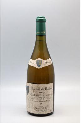 Hospices de Beaune Meursault Charmes 1er cru Cuvée Bahèzre de Lanlay 2001