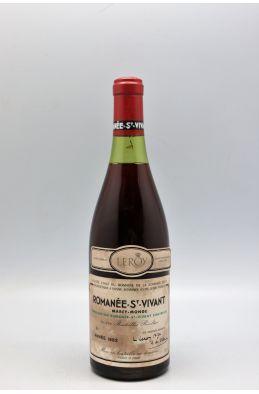 Romanée Conti Romanée Saint Vivant 1982