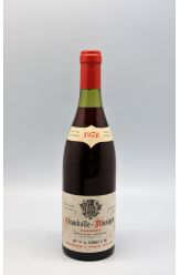 Christian Clerget Chambolle Musigny 1er cru Les Charmes 1970