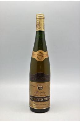 Kuentz Bas Alsace Grand cru Gewurztraminer Pfersigberg Sélection de Grains Nobles 1989