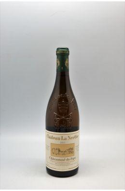 La Nerthe Châteauneuf du Pape 2001 blanc