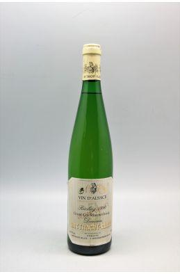 Mittnacht Klack Alsace Grand cru Riesling Schoenenbourg Vieilles Vignes 1990