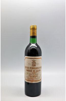 Pichon Longueville Comtesse de Lalande 1979 - PROMO -5% !
