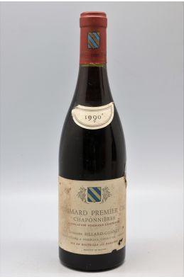 Billard Gonnet Pommard 1er cru Les Chaponnières Vieilles Vignes 1990 -5% DISCOUNT !