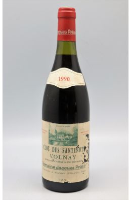 Jacques Prieur Volnay 1er cru Clos des Santenots 1990 -10% DISCOUNT !