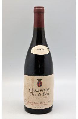 Robert Groffier Chambertin Clos de Bèze 1990