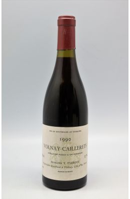 Yvon Clerget Volnay 1er cru Les Caillerets 1990